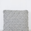 Cathedral Knit Throw Pillow - Grey