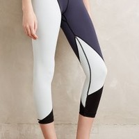 Vimmia Cropped Colorblock Leggings in Grey Size: