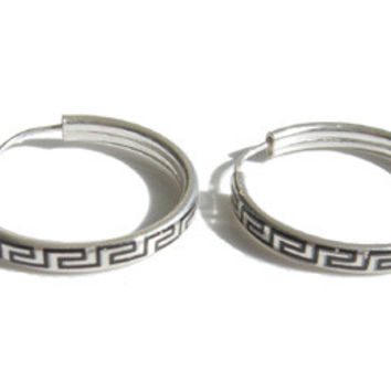 Sterling Silver Hoop Earrings II