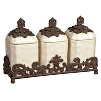 GG Collection 19.5  Inch Triple Canister Set