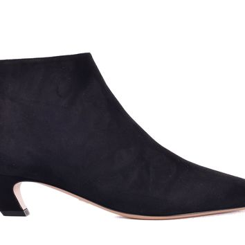 Dior Womens I-Dior Black Suede Heel Ankle Boots