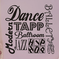 Dance Wall Decal Subway Art Girls Bedroom Wall Decor