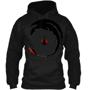 ++hiccup-and-toothless-how-to-train-your-dragon-- Pullover Hoodie 8 oz