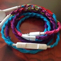 MyBuds Wrapped Tangle-Free Earbuds for iPhone | 80s -Retro Remix- | with Microphone and Volume Control