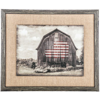 Barn Flag Framed Burlap Wall Decor | Hobby Lobby