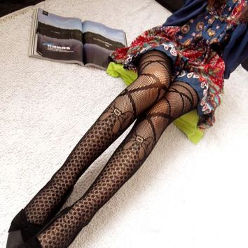 Hot Fashion Women Sexy Black Fishnet Pattern Jacquard Calcetines Leg Warmers Stockings Pantyhose Tights 1pcs dww04