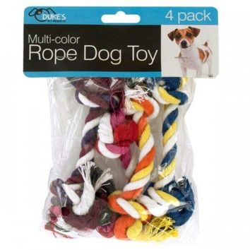 Multi-color Rope Dog Toy Set (pack of 18)