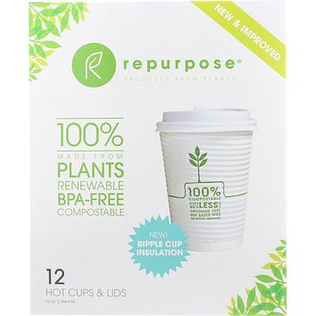 REPURPOSE: Insulated Hot Cup & Lid Set 12, 12 oz