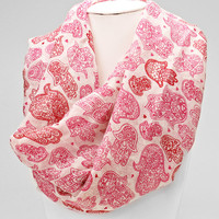 Red Hamsa Floral Scarf