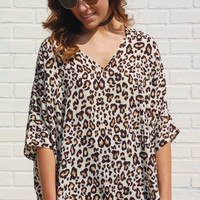 Main Focus Blouse-Snow Leopard