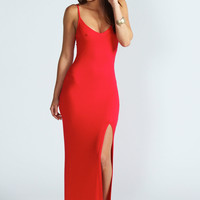 Estelle Strappy Front Split Maxi Dress