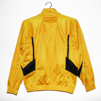 XS Sun yellow jacket retro vintage women bomber jacket yellow happy yellow windbreaker small cool shiny windbreaker skinny women 80s vintage