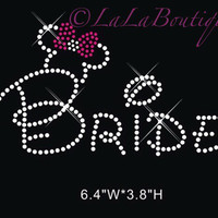 disney bride rhinestone transfer, bridal heat transfer, bride shirt, hot fix heat transfer, bride applique, disney wedding shirt, rhinestone