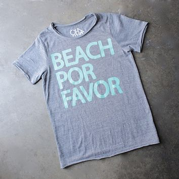 chaser - beach por favor tri-blend crew neck tee