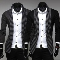 Jeansian Men Cardigan Knitwear Sweater Shirts Tops Stylish 2 Colors 4 Sizes 8820