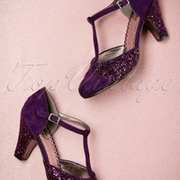 20s Sparkles On My T-Strap Pumps in Dahlia Purple
