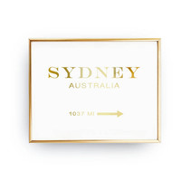 Sydney Australia 1037 MI, Inspirational Poster, Australia Print, Bedroom Decor, Real Gold Foil Print, Girls Inspired Poster, Sydney Poster