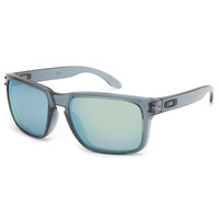Oakley Holbrook Sunglasses Crystal Black/Emerald Iridium One Size For Men 23234714901