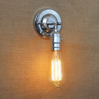 2016 Newest wall lamp Mini loft vintage adjustable E27 Edison Bulb industrial style wall lighting DIY deco light Fixtures