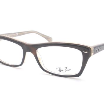 Ray Ban RB 5255 5075 Havana Beige Eyeglass New Authentic Frames