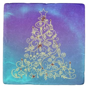 Christmas Tree Stone Coaster