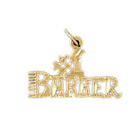 14K GOLD SAYING CHARM - #1 BARBER #10744
