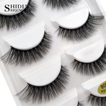 5 pairs 100% Real Fake Mink Eyelashes 3D Natural False Eyelashes 3d Mink Lashes Soft Eyelash Extension Makeup Kit Cilios G806