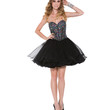 Black Ice Queen Strapless Corset Style Cocktail Dress 2015 Prom Dresses