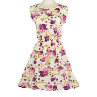 2016 Spring Summer Women's European Style Fashion Sexy Slim Mini Vest Dress with Flower Print S-XXL for Party