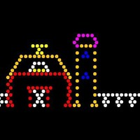 Lite Brite Refill: The Farm (9x12 RECTANGLE) - FOR 70's ERA VINTAGE LITE BRITE - Buy 2, get 1 FREE