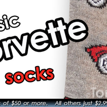 Men's Classic Corvette Socks (Charcoal Heather)