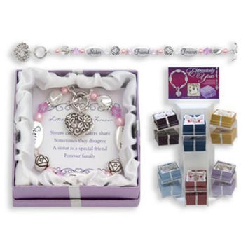 Sister Friend Forever Expression Boxed Bracelet
