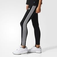 adidas 3-Stripes Leggings - Black | adidas UK