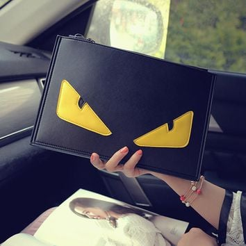 Women Monster Bags Designer Clutch Bag Fashion Ladies Messenger Bag Shoulder Satchel Envelope Novelty Small Eyes Handbags