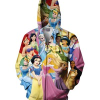 Disney Princesses Zip-Up Hoodie