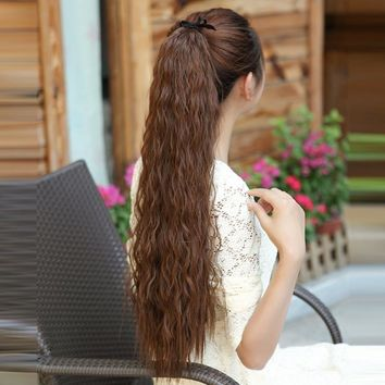 4 Colors New Women Girls Cute Synthetic Long Wavy Ponytail Lovely Hair Extensions