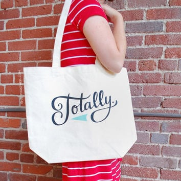 Large, Sturdy, Thick Canvas Totally Tote Bag by Emily McDowell