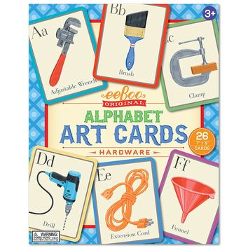eeBoo Alphabet Art Flash Cards