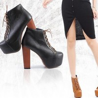 Discount China  European Hot Sale Platform Thick Heel Ankle Boot GDS-016-1B [GDS-016-1BL] - US$16.93 : Fashion Ladies Shoes&Bags Wholesale Online at Egogog.com
