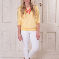 Comfy Girl 3/4 Sleeve - Yellow