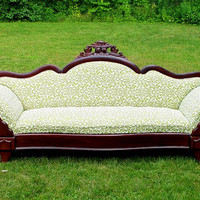 Kiwi Mahogany Dream Lake Couch