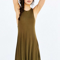 Gold Sleeveless Asymmetric Dress