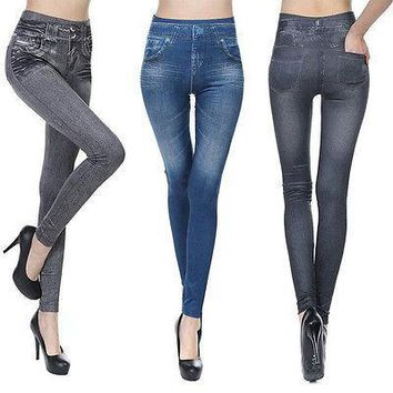 NEW Women Denim Jeans Sexy Skinny Leggings Jeggings Stretch Pants Trousers