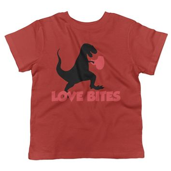 Love Bites Dinosaur T-Rex Toddler T-Shirt