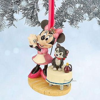 Licensed cool MINNIE MOUSE AND FIGARO CAT DISNEY STORE 2014 SKETCH BOOK ORNAMENT  SHIP NEW