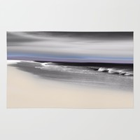 Lovely Twilight Seascape 2 Rug by Jen Warmuth Art And Design