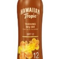 Hawaiian Tropic Sunscreen Tanning Dry Oil Sun Care Sunscreen Spray - SPF 12, 6 Ounce (Pack of 3)