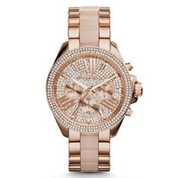 Wren Pavé Acetate and Rose Gold-Tone Watch | Michael Kors