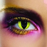 EDIT Yellow Cat Coloured Contacts
