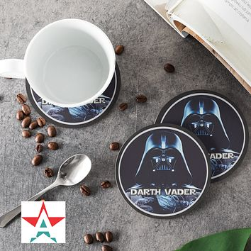 Darth Vader Curves Round Coasters (Set of 4 coasters)